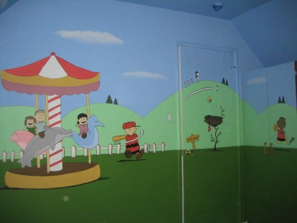Peanuts bedroom mural